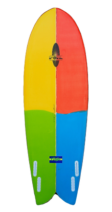 "6'0"" FOIL ""Calypso"" Quad Fish Surfboard"