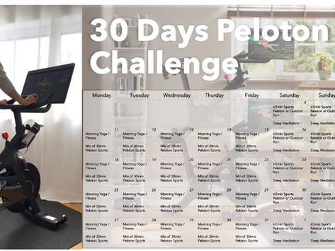 Kick Off my 30 Days Peloton Bike Challenge