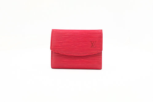 Louis Vuitton Coin Case in Red Epi Leather