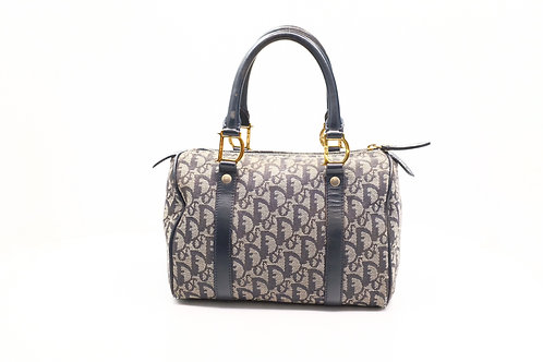 Dior Trotter Boston Bag in Navy Signature Canvas