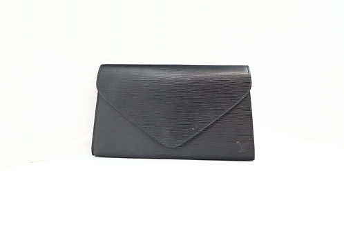 Louis Vuitton Art Deco Clutch in Black Epi Leather