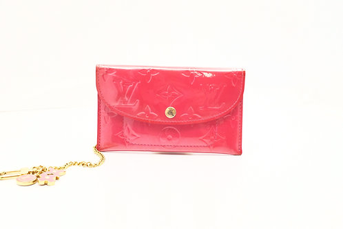 Louis Vuitton Envelope Plate Pouch in Framboise Vernis Leather