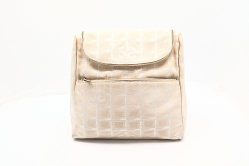 Chanel New Travel Line 2-Way Bag in Beige Nylon Canvas