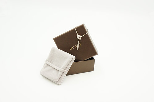 Gucci Heart Necklace in Sterling Silver