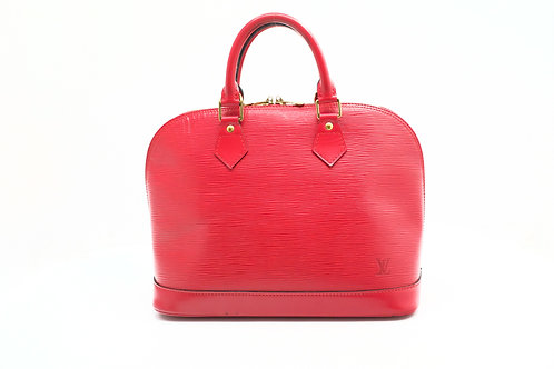 Louis Vuitton Alma in Red Epi Leather