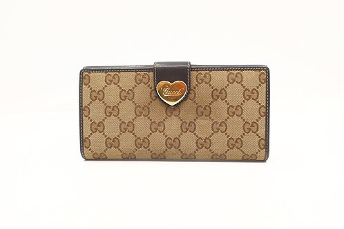 Gucci GG Supreme Coated Canvas Heart Long Wallet