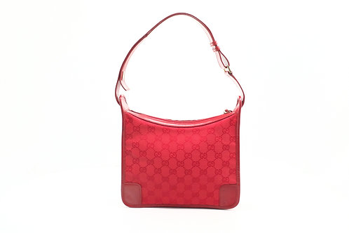 Gucci Shoulder Bag in Red GG Canvas
