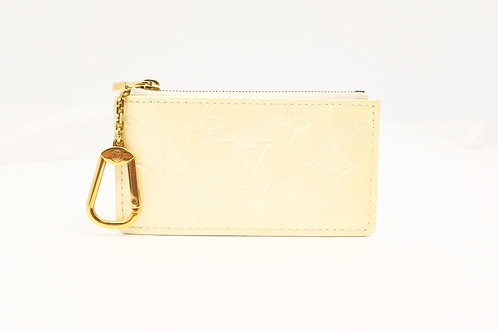 Louis Vuitton Pochette Cles in Ivorie Vernis Leather