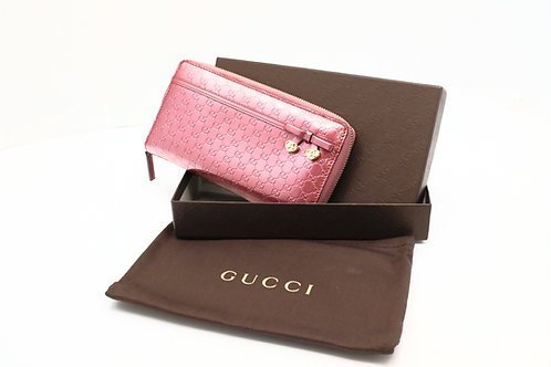 Gucci Long Wallet in Enamel Guccissima Leather