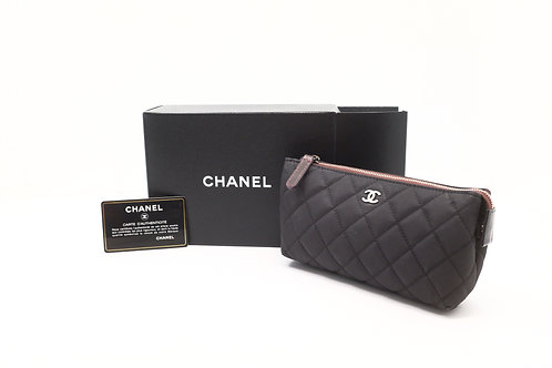 Chanel Matelasse Cosmetique Pouch in Black