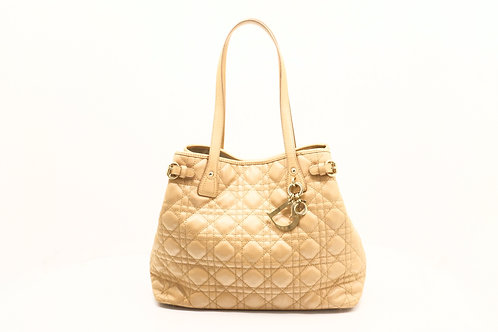 Dior Panarea Tote Bag in Beige Cannage Leather