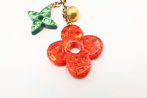 Louis Vuitton Glam Flower Bag Charm in Multicolored Resin