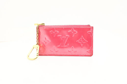 Louis Vuitton Pochette Cles in Framboise Vernis Leather