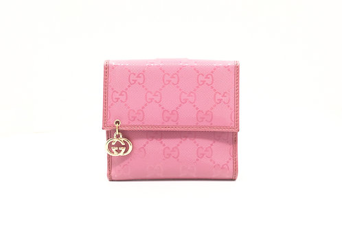 Gucci Compact Wallet in Mauve GG Canvas