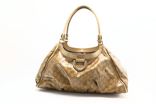 Gucci Abbey D-Ring Shoulder Bag in Crystal GG Canvas