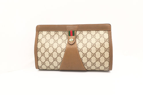 Gucci GG Supreme Canvas Clutch Bag