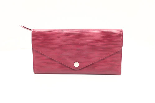 Louis Vuitton Josephine Long Wallet in Fuchsia Epi Leather