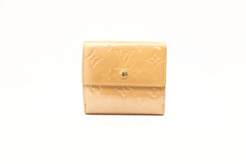Louis Vuitton Compact Wallet in Beige Vernis Leather