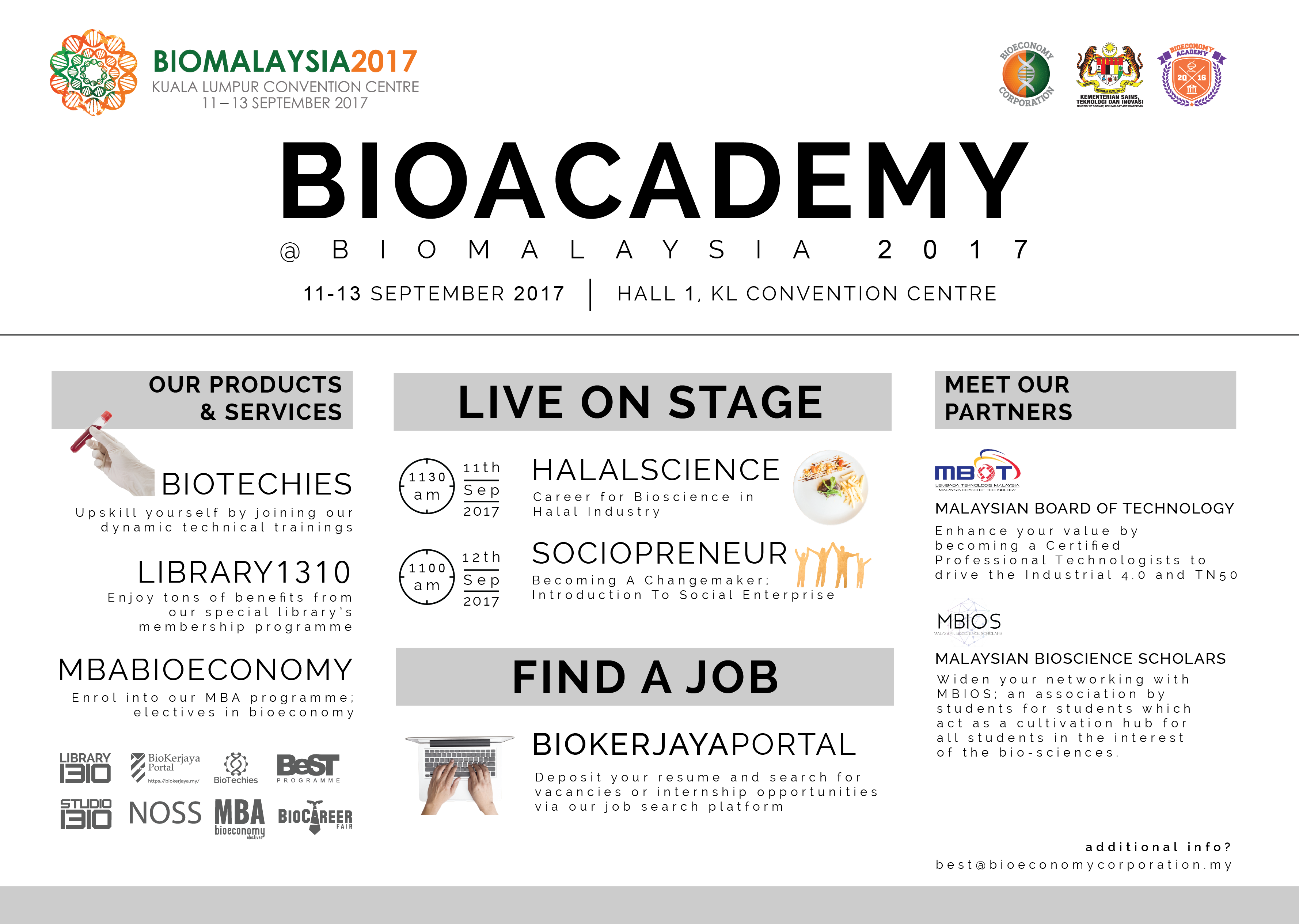 Programmes at Biacademy Booth
