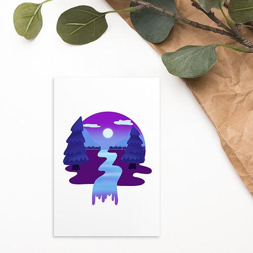Plum Forest Standard Postcard