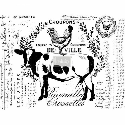 Farm Delights – Redesign with Prima Rub-On Transfer (22″ x 29″ total size)