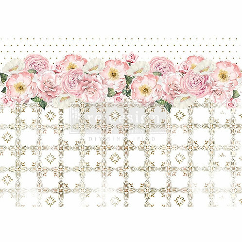 Tranquil Bloom – Decor Rice Paper – (11.5″ x 16.25″ total size)