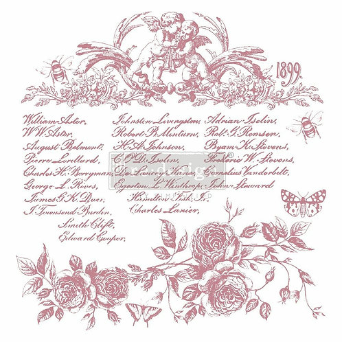 Floral Script – Clearly Aligned Stamps (12″ x 12″ clear cling, 20 pcs)
