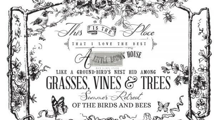 The Birds & The Bees – Redesign with Prima Rub-On Transfer (22″ x 32″)