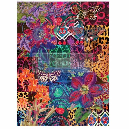 Patchwork – Redesign with Prima Rub-On Transfer (22″ x 30″ total image size)