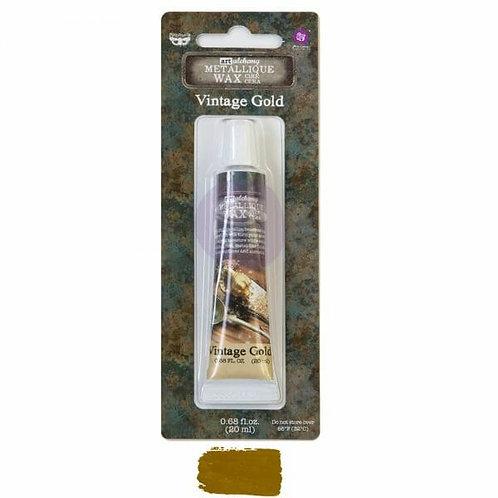 Vintage Gold – Art Alchemy Metallique Wax – 0.68 oz (20 mL)