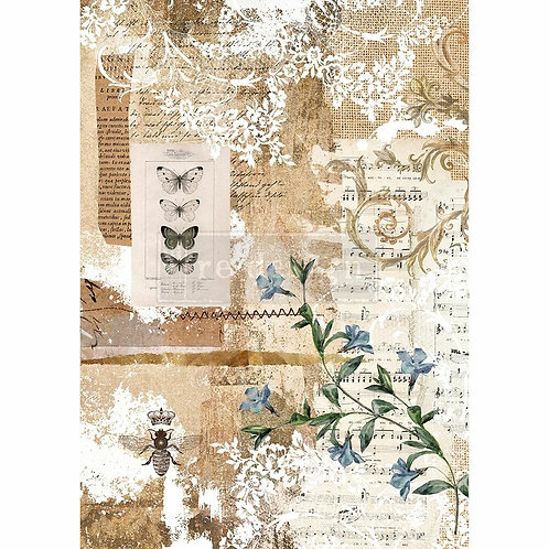 Botanical Sonata – Decor Rice Paper – (11.5″ x 16.25″ total size)