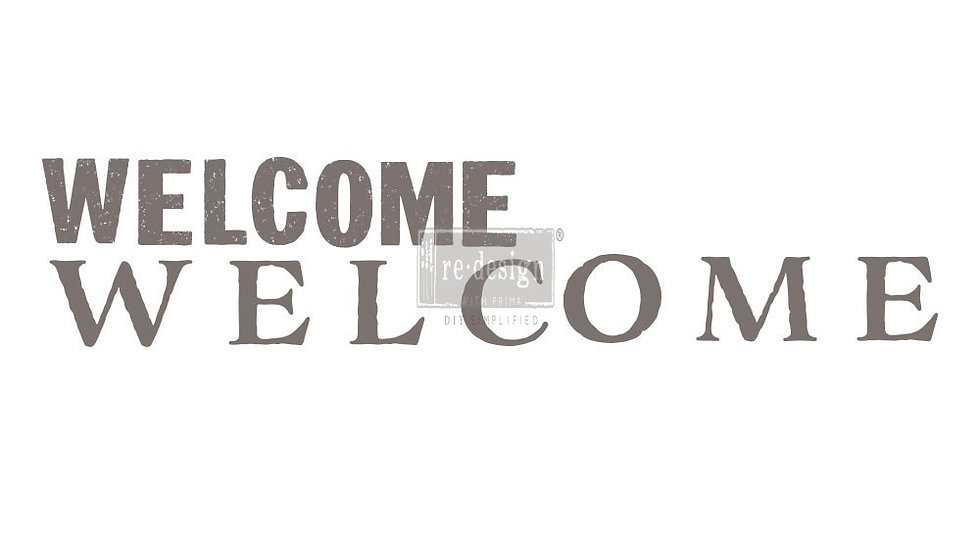 """Redesign Decor Transfer- Welcome 5""""x 27"""""""
