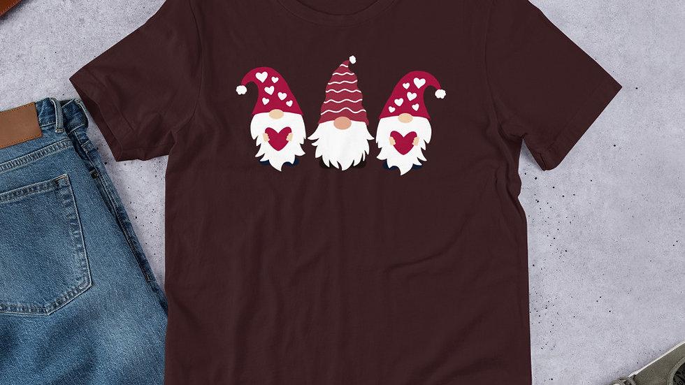 Valentine Gnomes Short-Sleeve Unisex T-Shirt