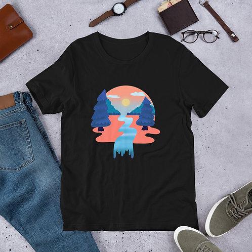 Tangerine Forest Short-Sleeve Unisex T-Shirt