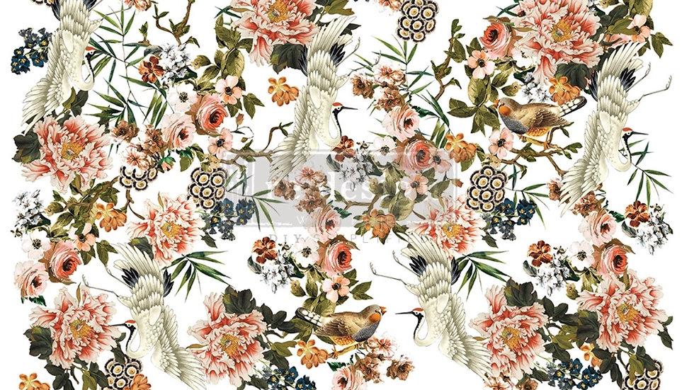 "Redesign Decor Transfer - Elegance & Flowers 48""x35"""