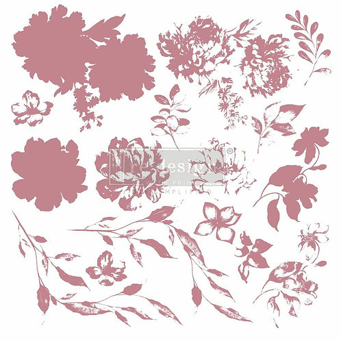 Sweet Blossoms – Clearly Aligned Stamps (12″ x 12″ clear cling, 16pcs pcs)