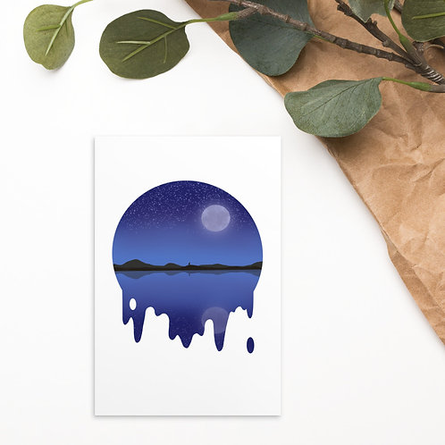 Night Relection Standard Postcard