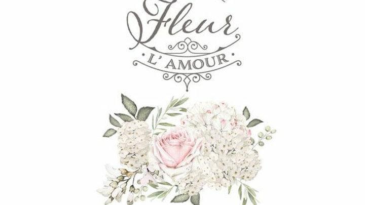La Vie Est Une Fleur – Redesign with Prima Rub-On Transfer (17″ x 27″)