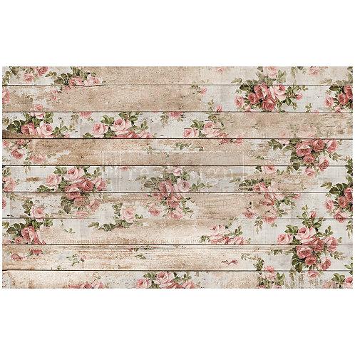 Shabby Floral – Decoupage Decor Tissue Paper – (19″ x 30″ total size)