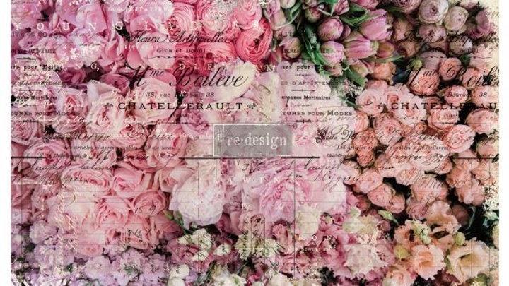"Decoupage Decor Tissue Paper- Flower Market 19""x20"""