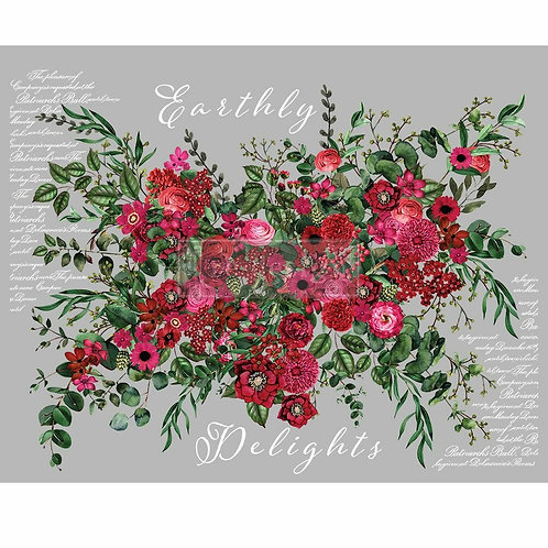 Earthly Delights – Redesign with Prima Rub-On Transfer (44″x30″ total size)