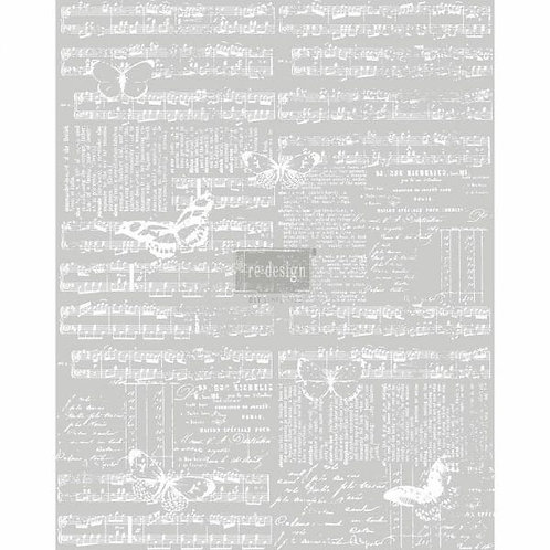 Music & The Butterflies – Redesign with Prima Rub-On Transfer (24″ x 30″)