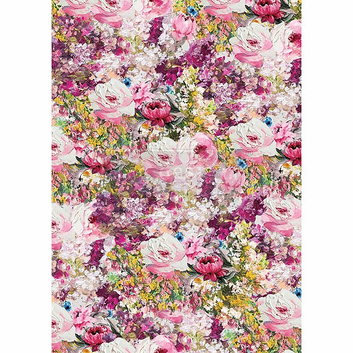 Fuchsia Meadow – Decor Rice Paper – (11.5″ x 16.25″ total size)