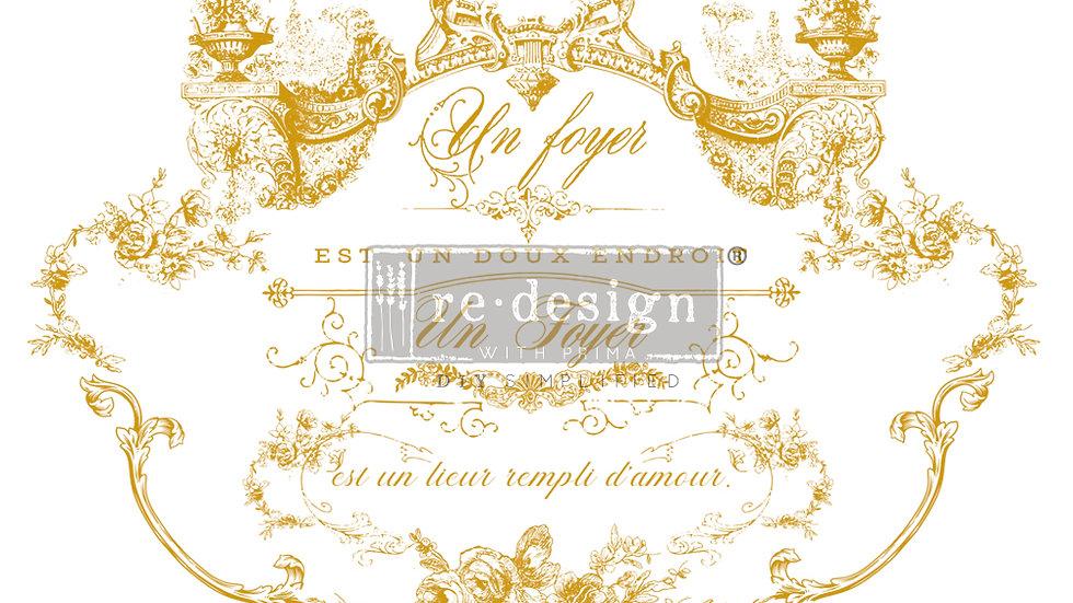 """Redesign Decor Transfer - Lovely Script 24"""" x 34"""""""