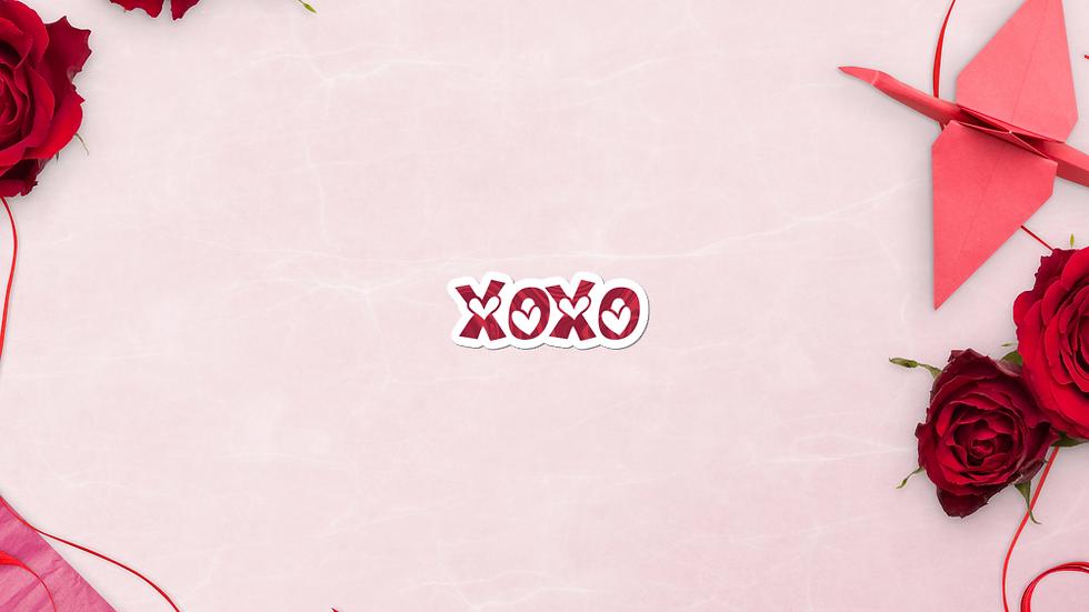 XOXO vinyl sticker