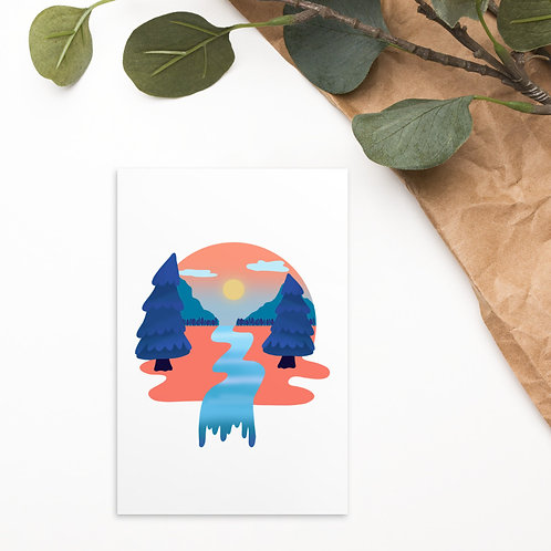 Tangerine Forest Standard Postcard