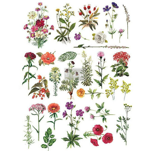 Floral Collection – Redesign with Prima Rub-On Transfer (24″x34″ total size)