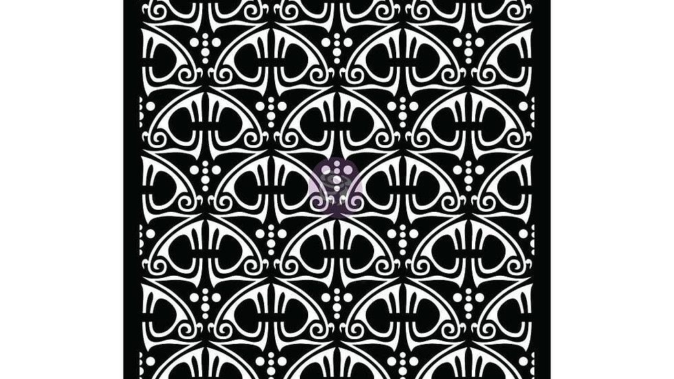 6×9 STENCIL – SWIRLY FLORALS – 6″ X 9″