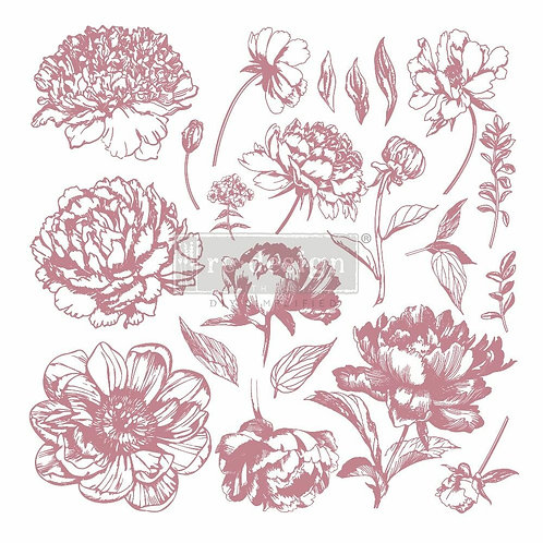 Linear Floral – Clearly Aligned Stamps (12″ x 12″ clear cling, 20 pcs)