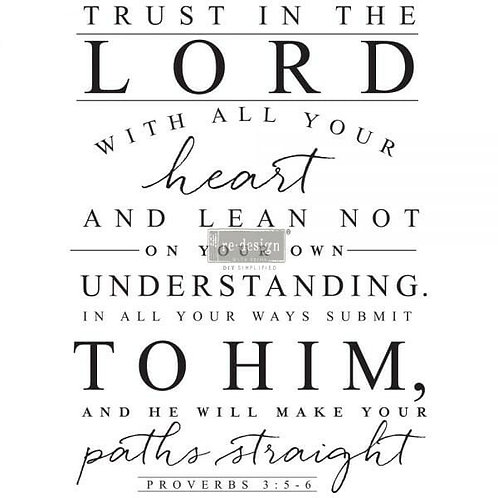 Trust in the Lord – Redesign with Prima Rub-On Transfer (22″ x 30″)